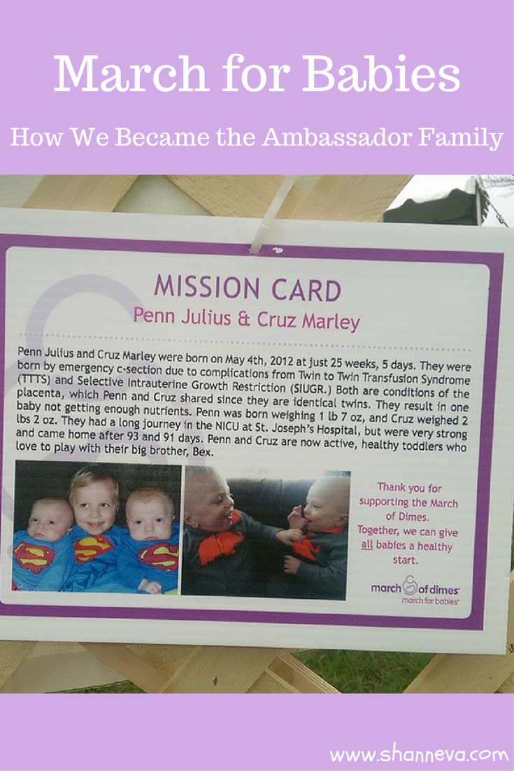 How to become an Ambassador Family for the March of Dimes March for Babies