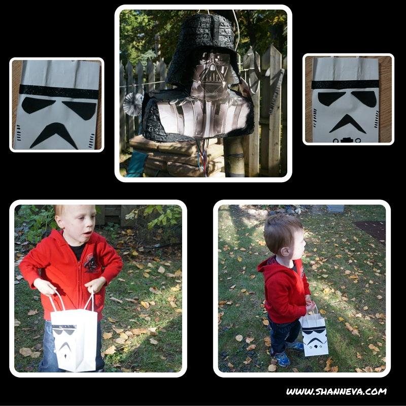 star wars inspired party favors and pinata