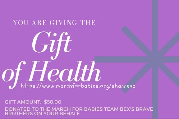 gift to the March of Dimes