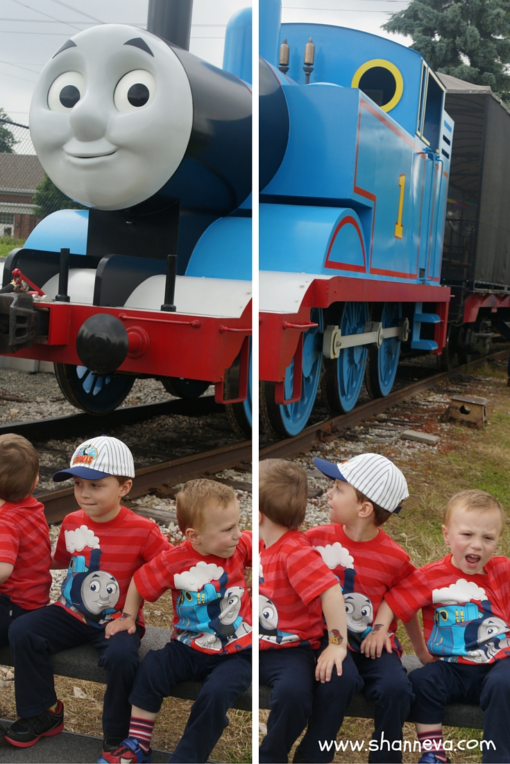 With Thomas the Train