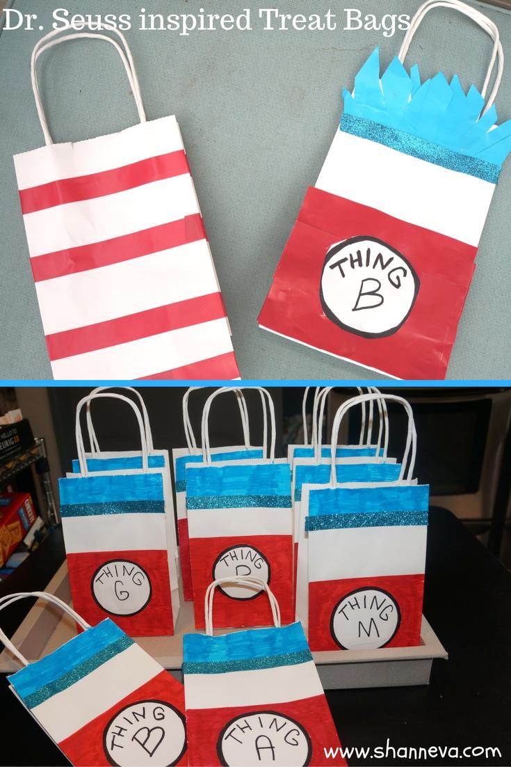 Dr. Seuss Party treat bags