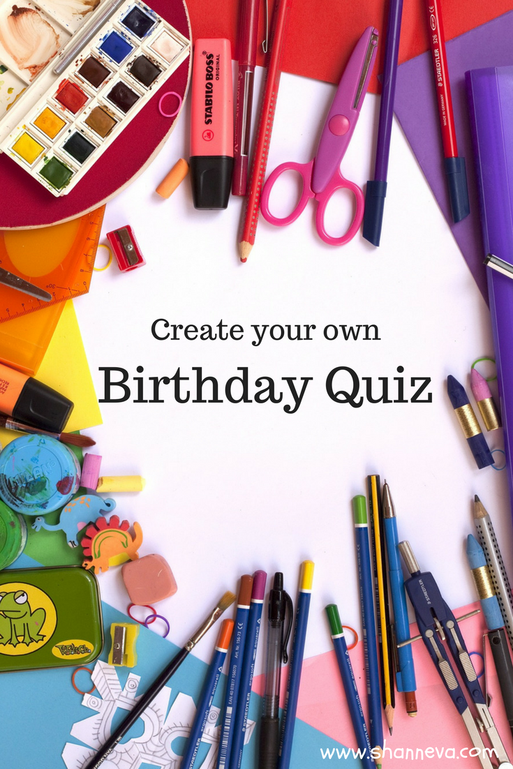 Looking for a fun Birthday Keepsake? Make a Birthday Quiz that you can use year after year as your kids grow.