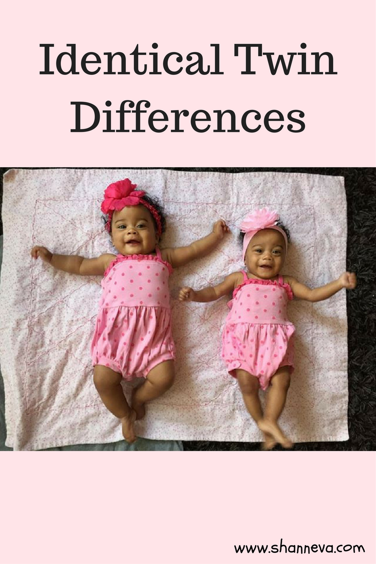 Even though identical twins split from the same egg, there are identical twin differences. Sometimes they are small, but sometimes can be significant depending on conditions in the womb and of birth.