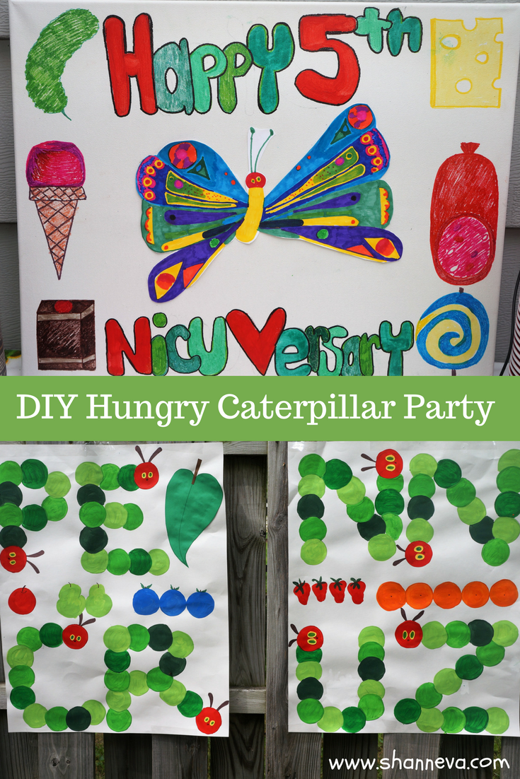 DIY Very Hungry Caterpillar party decorations