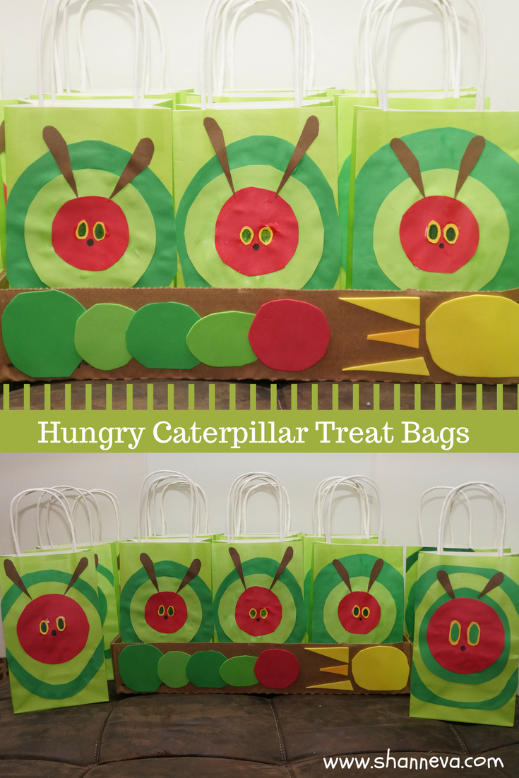 DIY The Very Hungry Caterpillar Inspired Treat Bags. Party bags, Candy bags, Favor bags.