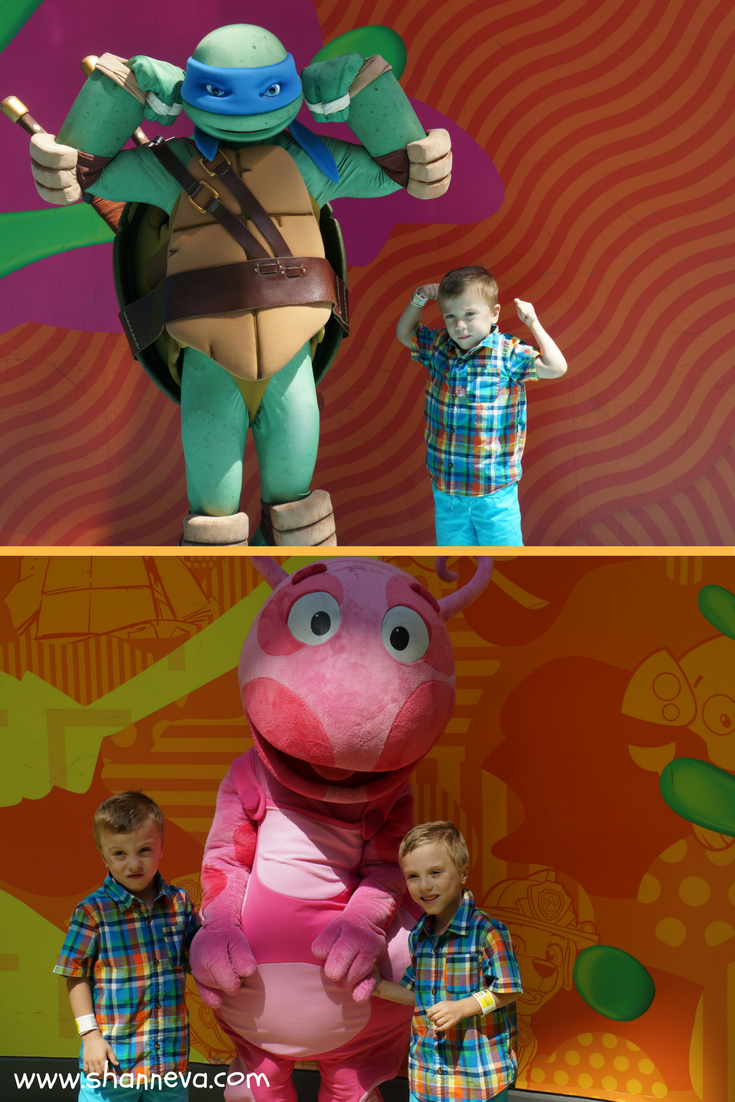 Mall of America Characters at Nickelodeon Universe.