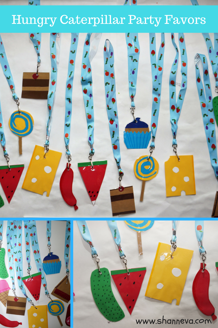 DIY very hungry caterpillar inspired party favors with Oriental Trading company