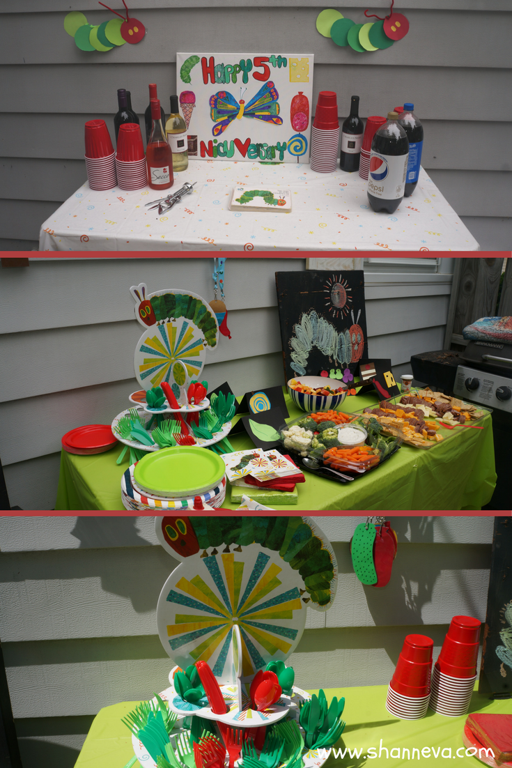 Very hungry caterpillar inspired party and table decorations