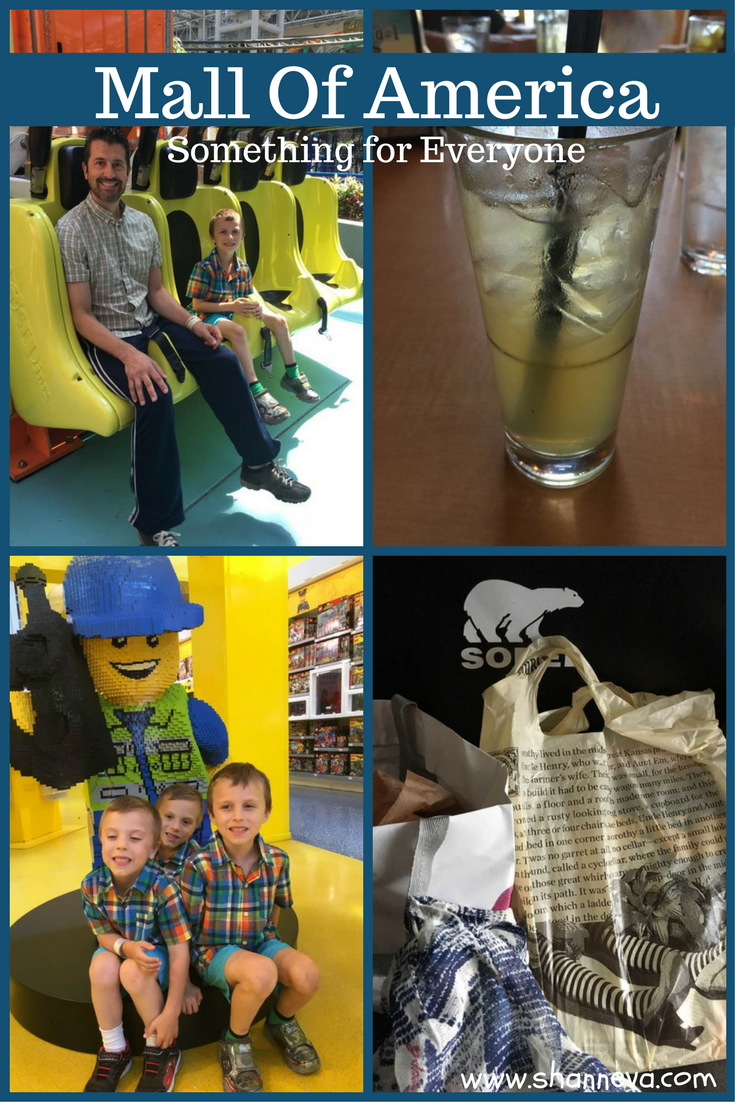 Mall of America. Something for everyone in your family. Restaurants, shopping, Nickelodeon Universe, Sea Life, Moose Mountain Mini golf, Crayola Experience