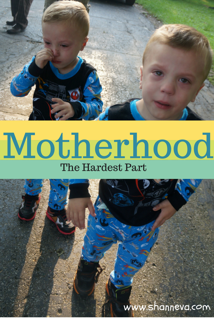 The hardest part of motherhood is all of it. From pregnancy to newborn to toddler to school age. When is the easy part?
