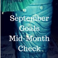 September 2016 mid month goal check