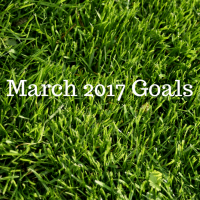 Get motivated and organized with my goals for March 2017