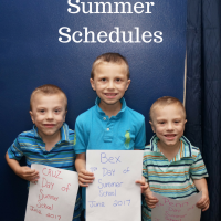 Surviving summer schedules with tips on planning. Make your events and activities easier and more fun with a few simple ideas.