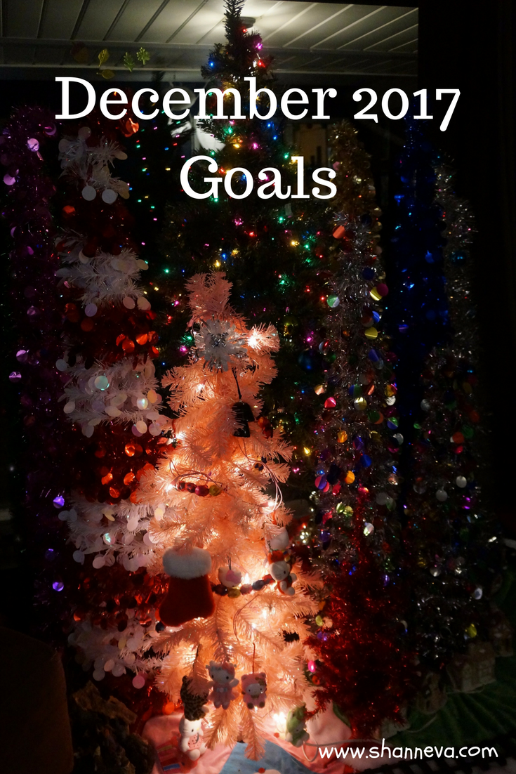 Set your last goals of the year. My December 2017 goals to give you some ideas.