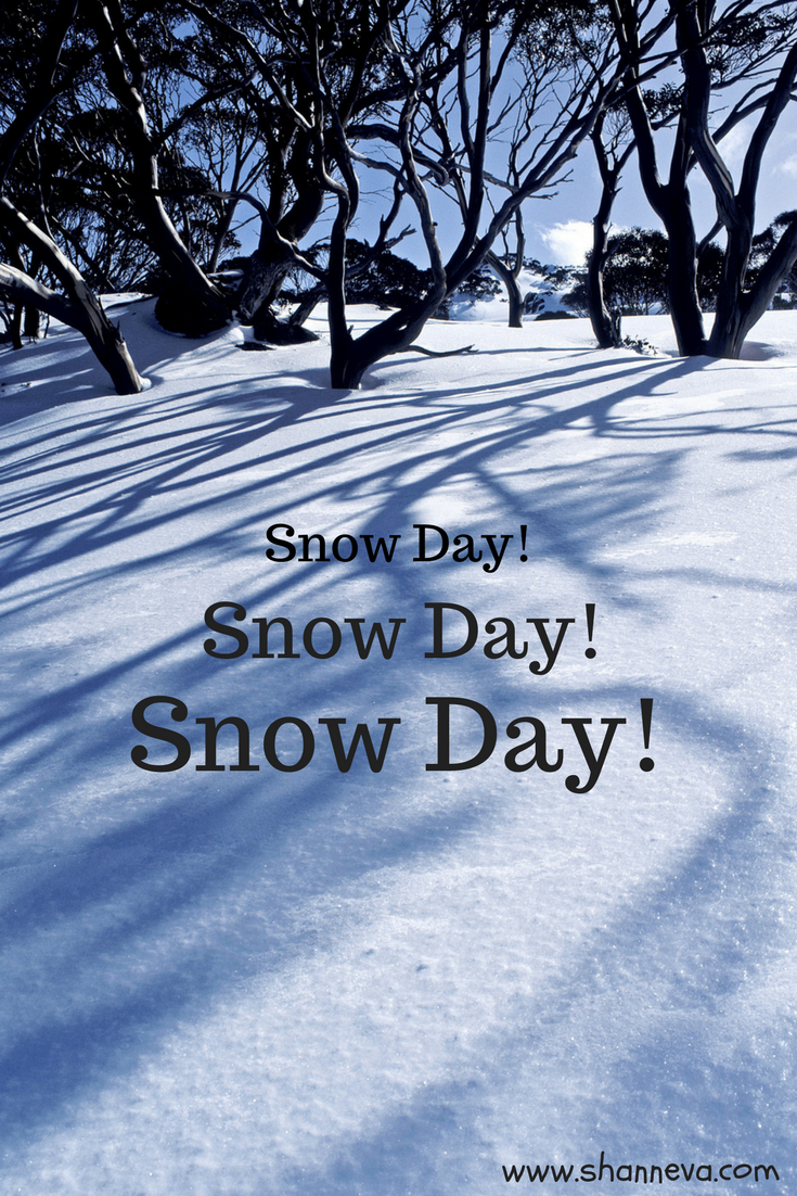 How to have fun and enjoy an unexpected snow day #snowdayactivities
