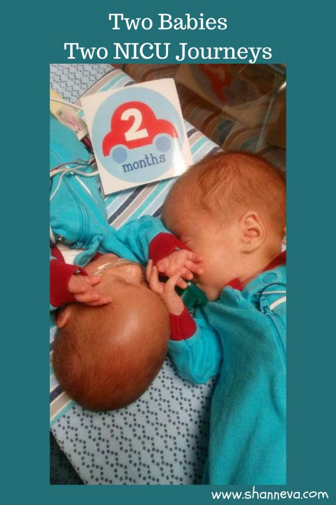 Two Babies, Two NICU Journeys #NICU #NICUstrong #prematurebirth #twins #pregnancy #SIUGR #preemie