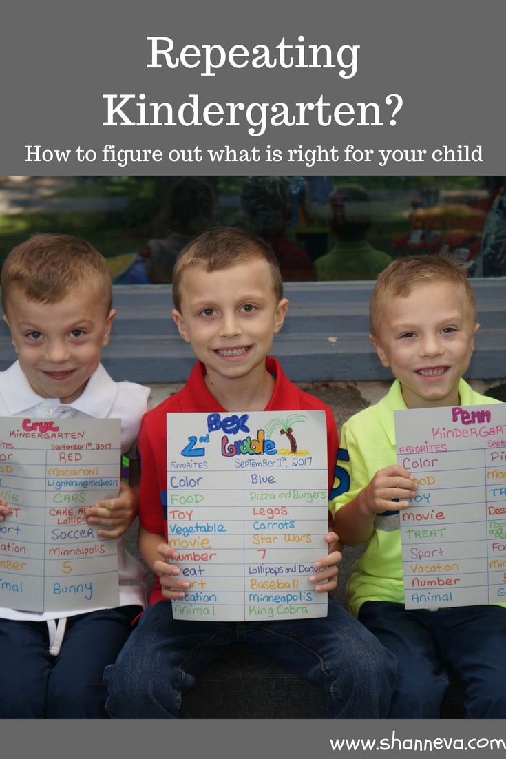 repeating kindergarten: How to make the right decision for your family #Kindergarten #repeatingkindergarten #schoolretention #school #backtoschool