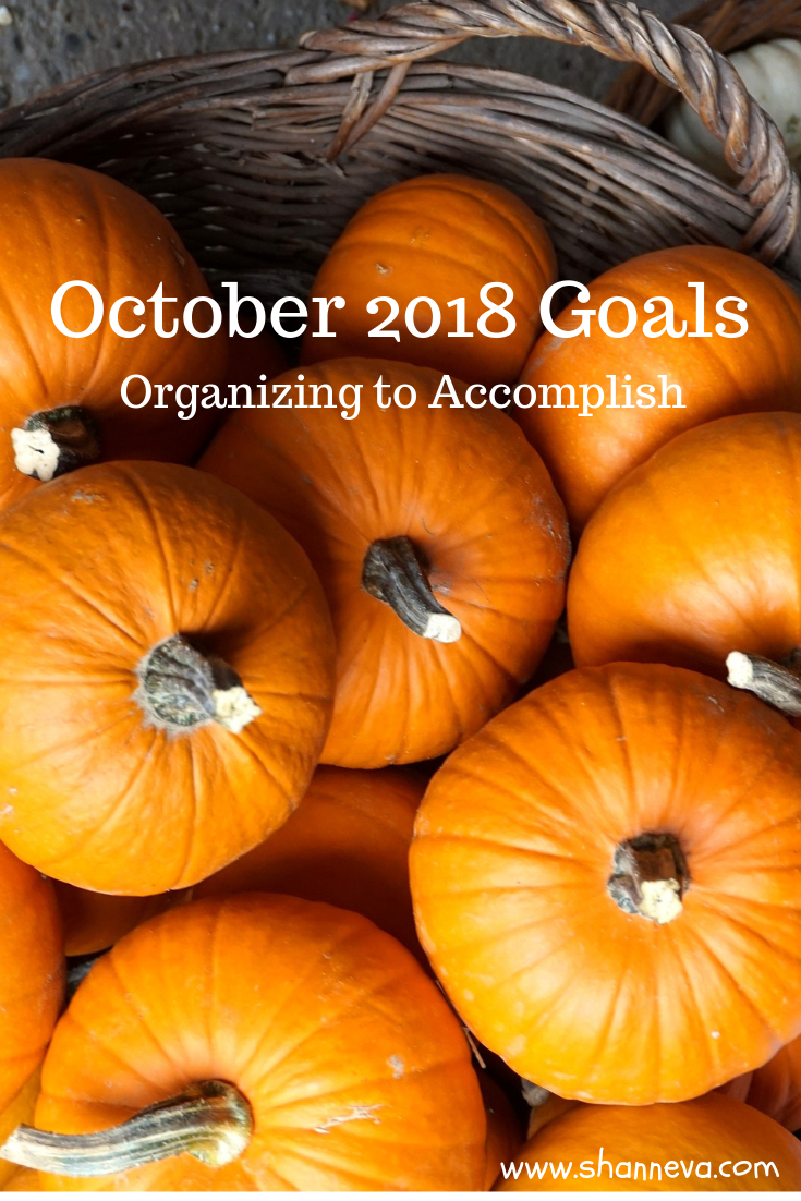 October 2018 Goals: How to accomplish with organization #goalsetting #monthlygoals