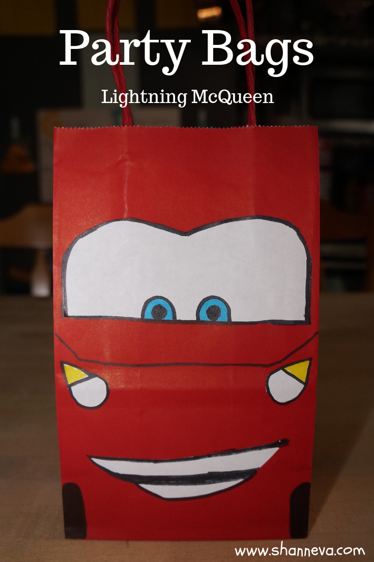 Twin Boy Party bags #boypartybags #favorbags #carsfavors #lightningmcqueencraft