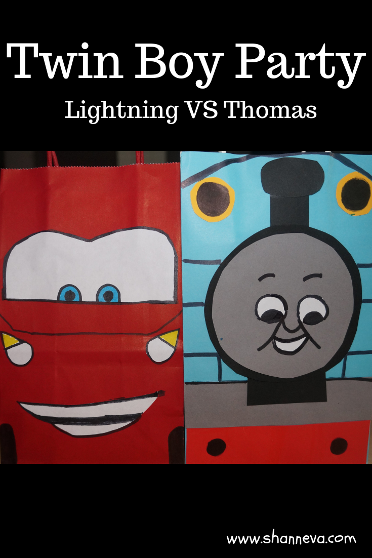 Throw a Twin Boy Party for all your train and car fans #twinboys #LightningMcQueen #ThomastheTrain #boybirthdayparty