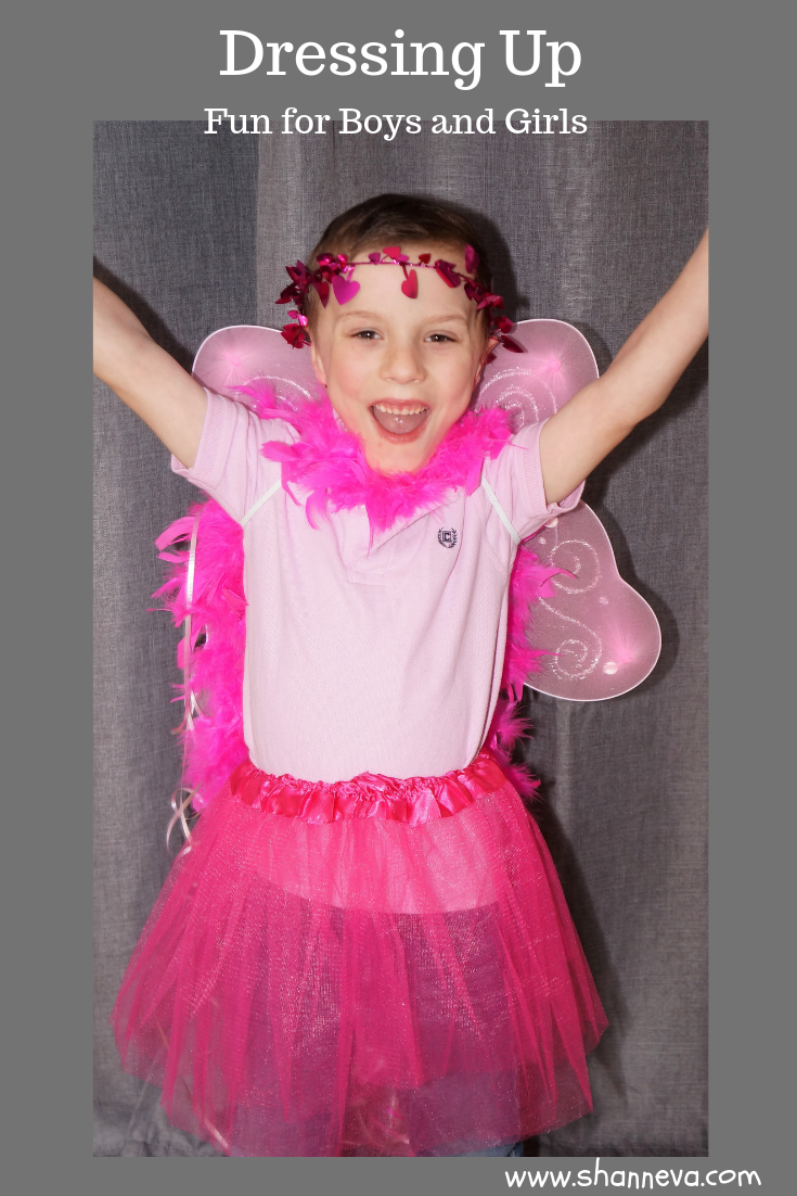Dressing Up: Fun for Boys and Girls #pretendplay #importanceofplay #partyplanning #princessparty #fairywings #spon #dressupwholesale.com