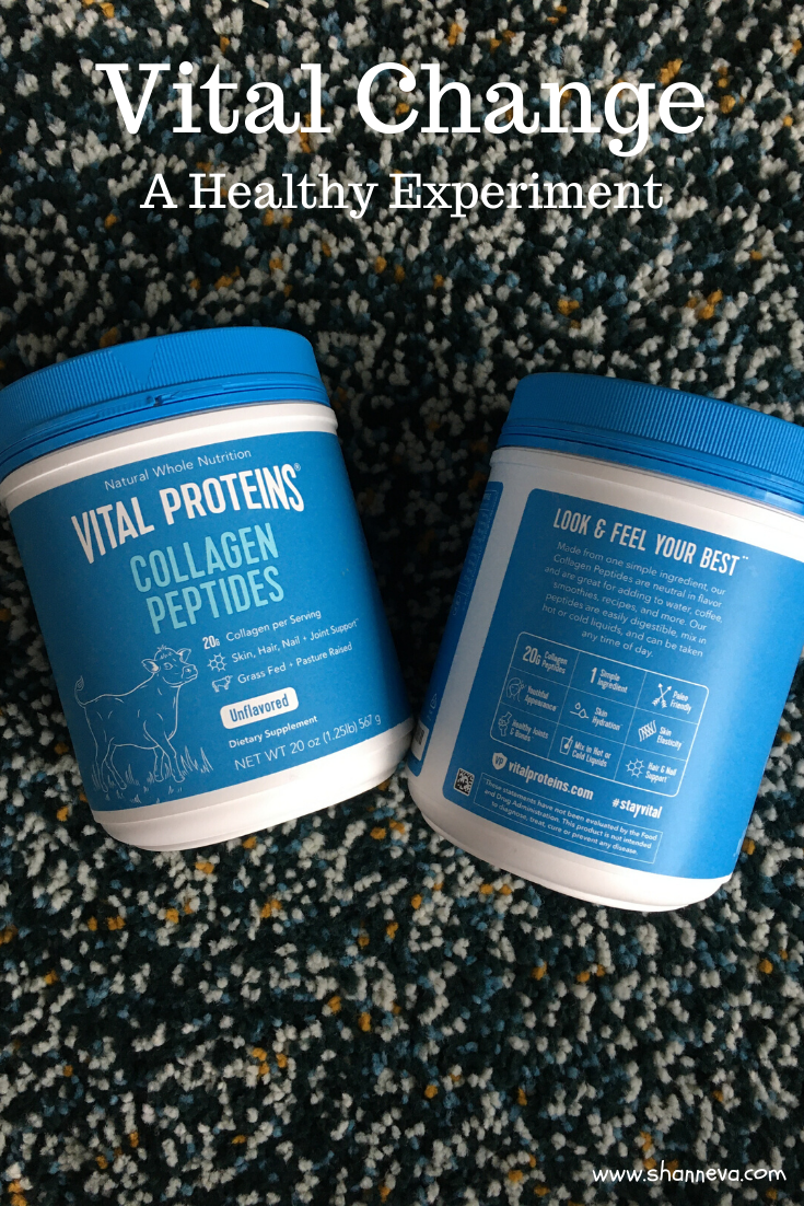 Let's make a Vital change for our health and wellness this month. Try Vital Proteins Collagen Peptides to see improvement to your skin, hair, nails and joints.