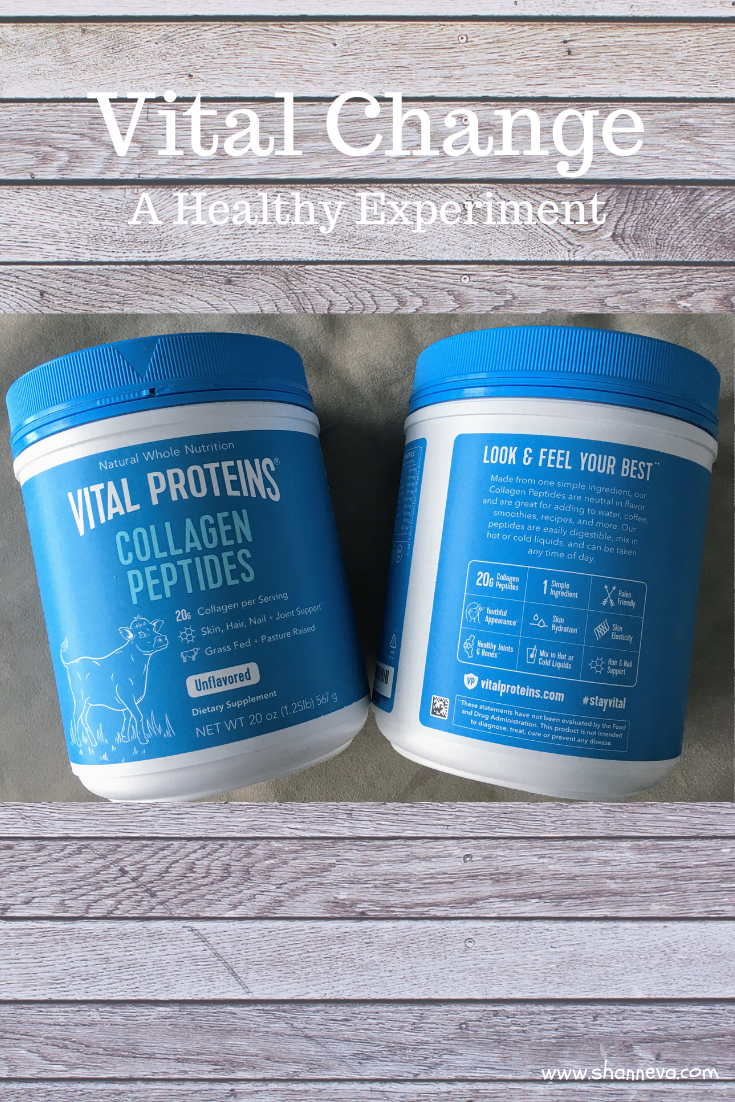 Ready for a vital change in your health and wellness? I'm trying Vital Proteins for a month to see if it helps improve my skin, nails, hair, and joints.