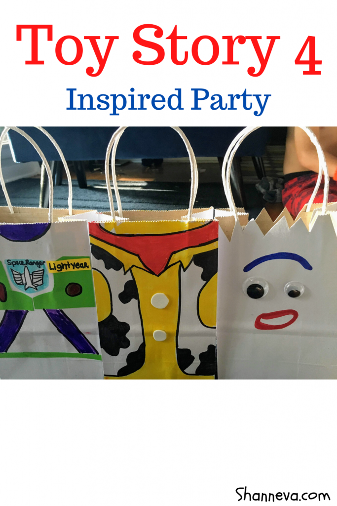 Fun Forky, Buzz, and Woody gift or swag bags for your Toy Story Party