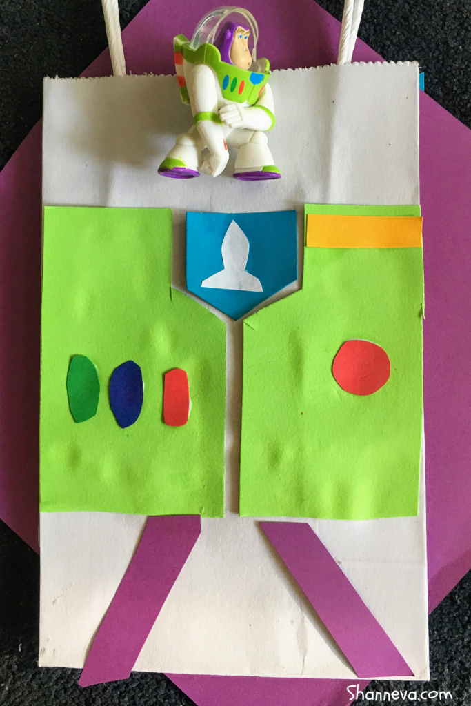 DIY Buzz Bag for Toy Story Party